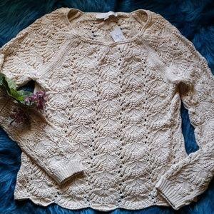 LOFT Open Weave Sweater